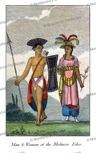 man and woman of the moluccas, mary anne venning, 1817