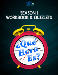 que hora es season 1 workbook - digital copy