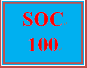 SOC 100 Wk 2 Individual: Socialization and Social Structure Worksheet | eBooks | Education