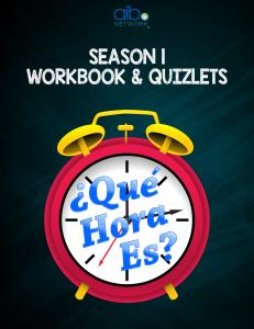 que hora es season 1 workbook - digital copy + season 1 bundle