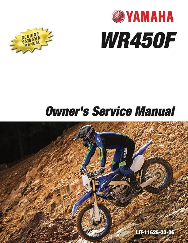 Yamaha Motorcycle Wr450f 2020 Workshop  U0026 Repair Manual