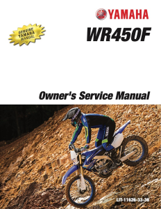 yamaha motorcycle wr450f 2020 workshop & repair manual