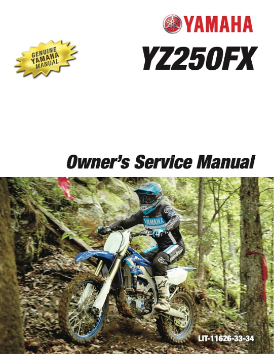 First Additional product image for - YAMAHA MOTORCYCLE YZ250FX 2020 Workshop & Repair manual