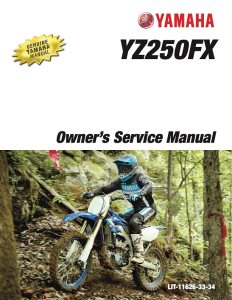 YAMAHA MOTORCYCLE YZ250FX 2020 Workshop & Repair manual | Documents and Forms | Manuals