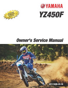 YAMAHA MOTORCYCLE YZ450F 2020 Workshop & Repair manual | Documents and Forms | Manuals