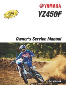 yamaha motorcycle yz450f 2020 workshop & repair manual