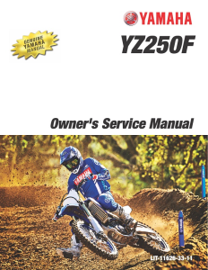yamaha motorcycle yz250f 2020 workshop & repair manual