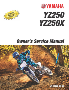 yamaha motorcycle yz250 yz250x 2020 workshop & repair manual