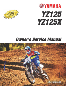 yamaha motorcycle yz125 yz125x 2020 workshop & repair manual
