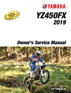 yamaha motorcycle yz450fx 2019 workshop & repair manual