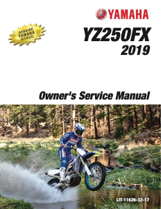 YAMAHA MOTORCYCLE YZ250FX 2019 Workshop & Repair manual | Documents and Forms | Manuals