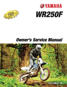 yamaha motorcycle wr250f 2018 workshop & repair manual