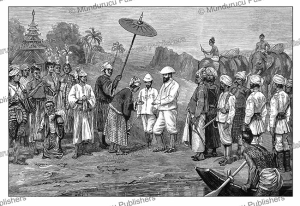 Major Raikes (1813-1909) receiving the Sabwa (local prince) of Kale, Upper Burma, The Graphic, 1888 | Photos and Images | Digital Art