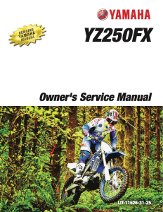 yamaha motorcycle yz250fx 2018 workshop & repair manual