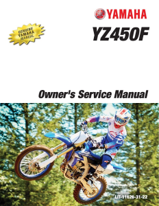 yamaha motorcycle yz450f 2018 workshop & repair manual