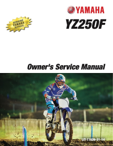 yamaha motorcycle yz250f 2018 workshop & repair manual