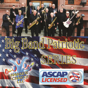america, the beautiful for 5444+ big band with vocal and tenor sax solo.