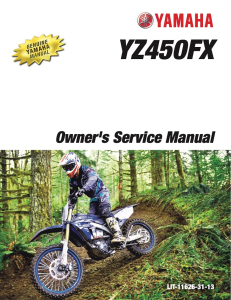 yamaha motorcycle yz450fx 2018 workshop & repair manual