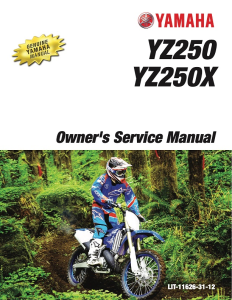 YAMAHA MOTORCYCLE YZ250X YZ250 2018 Workshop & Repair manual | Documents and Forms | Manuals