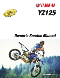 yamaha motorcycle yz125 2018 workshop & repair manual