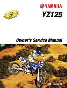 yamaha motorcycle yz125 2017 workshop & repair manual
