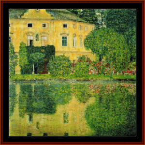 castle kammer - klimt cross stitch pattern by cross stitch collectibles