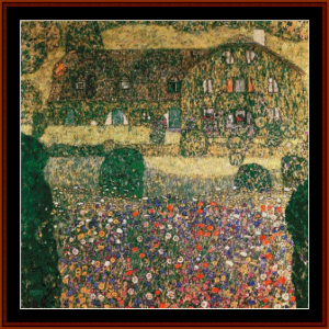 a forester's house in weissenbach - klimt cross stitch pattern by cross stitch collectibles