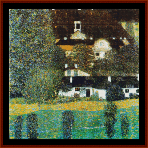 kammer castle - klimt cross stitch pattern by cross stitch collectibles