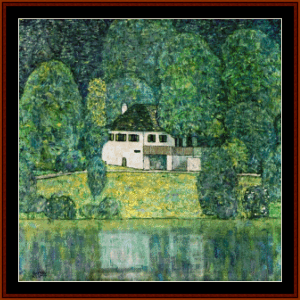 Litzlberg on Lake Attersee - Klimt cross stitch pattern by Cross Stitch Collectibles | Crafting | Cross-Stitch | Other