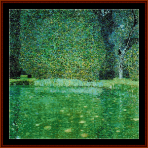 The Pond at the Castle Kammer - Klimt cross stitch pattern by Cross Stitch Collectibles | Crafting | Cross-Stitch | Other