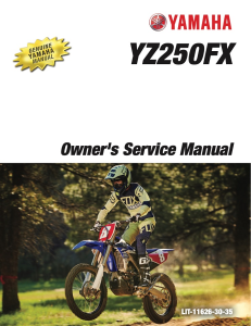 YAMAHA MOTORCYCLE YZ250FX 2017 Workshop & Repair manual | Documents and Forms | Manuals