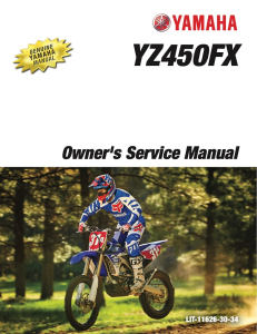 yamaha motorcycle yz450fx 2017 workshop & repair manual