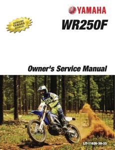 yamaha motorcycle wr250f 2017 workshop & repair manual