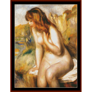 Bather on Rocks - Renoir cross stitch pattern by Cross Stitch Collectibles | Crafting | Cross-Stitch | Other
