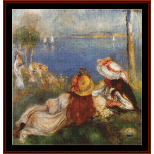 Girls on the Coast - Renoir cross stitch pattern by Cross Stitch Collectibles | Crafting | Cross-Stitch | Other