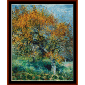 pear tree - renoir cross stitch pattern by cross stitch collectibles