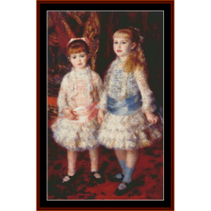 pink and blue - renoir cross stitch pattern by cross stitch collectibles