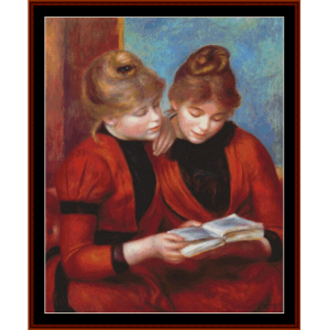 Two Sisters - Renoir cross stitch pattern by Cross Stitch Collectibles | Crafting | Cross-Stitch | Other
