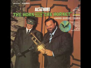 the green hornet theme custom arranged for a seven piece brass group with trumpet solo, rhythm and percussion.