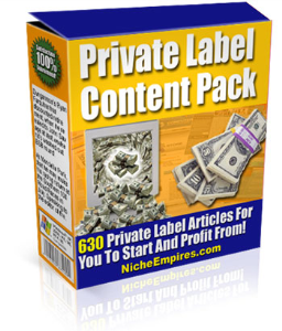 Private Label Content Pack | eBooks | Business and Money