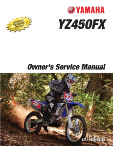 yamaha motorcycle yz450fx 2016 workshop & repair manual