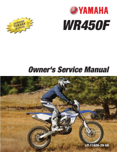 YAMAHA MOTORCYCLE WR450F 2016 Workshop & Repair manual | Documents and Forms | Manuals