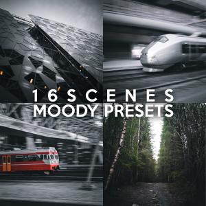 16scenes moody presets pack