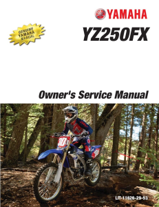 YAMAHA MOTORCYCLE YZ250FX 2016 Workshop & Repair manual | Documents and Forms | Manuals