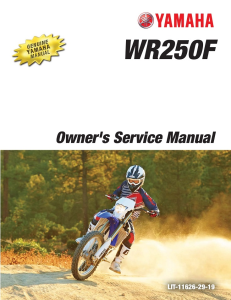 YAMAHA MOTORCYCLE WR250F 2016 Workshop & Repair manual | Documents and Forms | Manuals