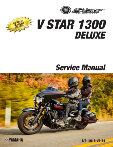 YAMAHA V STAR 1300 DELUXE 2013-2017 Workshop & Repair manual | Documents and Forms | Manuals