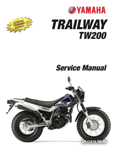 YAMAHA MOTORCYCLE TW200 2009-2020 Workshop & Repair manual | Documents and Forms | Manuals