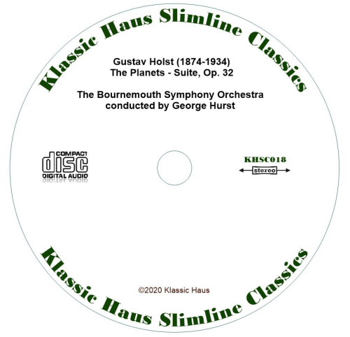 Second Additional product image for - Gustav Holst: The Planets - Suite, Op. 32 - Bournemouth Symphony Orchestra/George Hurst