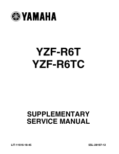 yamaha motorcycle yzf-r6s 2009 workshop & repair manual