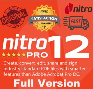 nitro pro 12 full version 32/64 bit multilingual lifetime activation key instant download